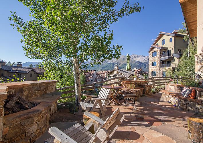 Backyard Patio With Firepit